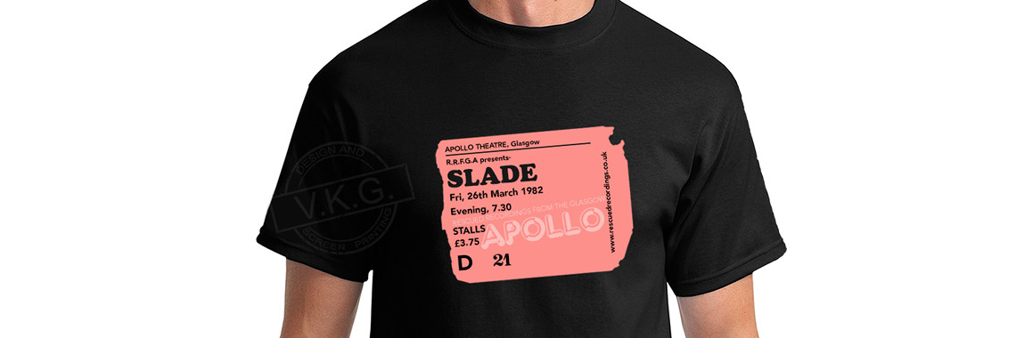 Glasgow Apollo Pink Ticket Stub T-Shirt