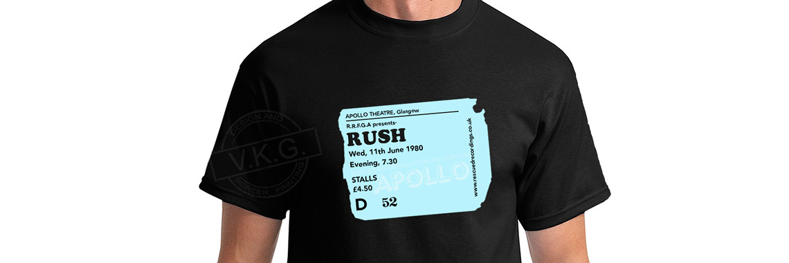 Glasgow Apollo Sky Blue Ticket Stub T-Shirt